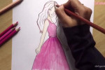 نقاشی کودکانه جدید عروسک باربی