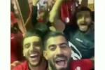 شادی پس از پیروزی در رختکن پرسپولیس