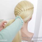 آموزش آرایش شینیون عروس (5)