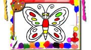 بازی کتاب رنگ آمیزی پروانه ها