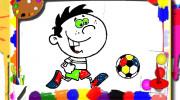 بازی کتاب رنگ آمیزی فوتبال