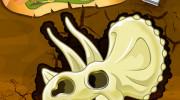 بازی حفاری استخوان های دایناسورها