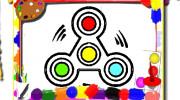 بازی کتاب رنگ آمیزی اسپینرهای متحرک