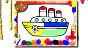 بازی کتاب رنگ آمیزی قایق ها