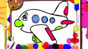 بازی کتاب رنگ آمیزی هواپیماها