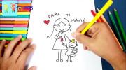 کلیپ آموزش نقاشی به کودکان | نقاشی مادر و دختر