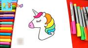 آموزش نقاشی به کودکان : کشیدن اسب تک شاخ فانتزی
