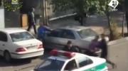 فیلم درگیری تن به تن مامور نیروی انتظامی با یک اوباش