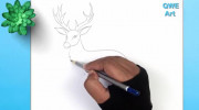 کشیدن نقاشی گوزن برای بچه ها