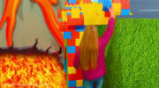 کلیپ ماشین بازی و ساخت پل کودکانه
