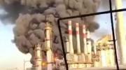 فیلم آتش سوزی در پالایشگاه تهران