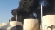 ویدیو آتش سوزی پالایشگاه نفت تهران