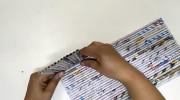 آموزش ساخت جامدادی رومیزی با روزنامه