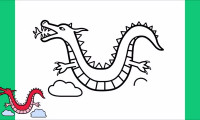 آموزش نقاشی ساده اژدها