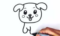 آموزش نقاشی سگ زبون دراز