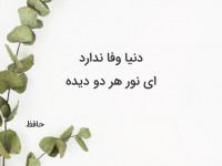 20 تک بیتی حافظ برای بیو   تک بیتی عارفانه و عاشقانه غمگین حافظ برای بیو
