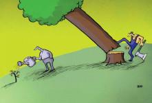 ۸ کاریکاتورهای غم انگیز روز جهانی محیط زیست برای فرهنگ سازی