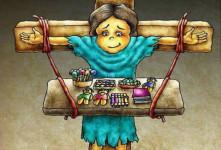 ۷ کاریکاتور دلخراش به مناسبت روز جهانی کودکان کار
