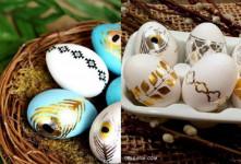آموزش مرحله به مرحله تزیین تخم مرغ با برگه طلا و تتو موقت طلایی