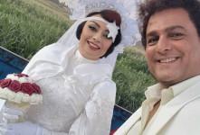 پشت صحنه سریال نیسان آبی/ یکتا ناصر در لباس عروس