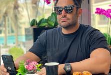 دیدار صمیمی رضا گلزار و شاهرخ خان هندی+ عکس