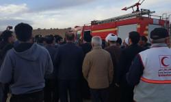 حضور خانواده های جانباختگان حادثه سقوط هواپیما در منطقه سی سخت