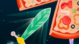 بازی پرتاب چاقو به پیتزا