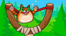 بازی پرتاب گربه عصبانی