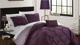 مدل های جدید روتختی بنفش رنگ مناسب تخت خواب های دونفره