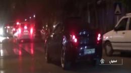 فیلم کامل تصادف پورشه و پراید در اصفهان و دستگیری راننده ۲۳ ساله