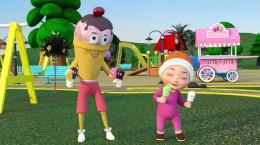 انیمیشن موزیکال انگلیسی بستنی های رنگی