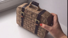 آموزش ساخت کیف دستی زیبا از نخ جوت و مقوا