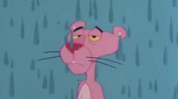 کارتون کلاسیک پلنگ صورتی و بارش باران