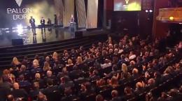 کلیپ لحظه اهدای توپ طلای ۲۰۱۹ به لیونل مسی