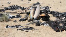 تصاویر هرمس پهپاد سرنگونشده رژیم صهیونیستی توسط پدافند نیروی هوا فضای سپاه