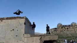 تصاویر ورزش پارکور در کابل