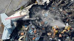 تصاویر سقوط هواپیما در توکیو