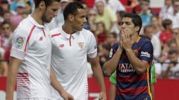تصاویر شکست بارسلونا مقابل سویا