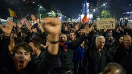 تصاویر بالا گرفتن نارضایتی سیاسی در رومانی
