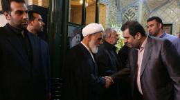 تصاویر حضور دکتر لاریجانی در مراسم ختم برادرزاده حجت الاسلام ناطق نوری
