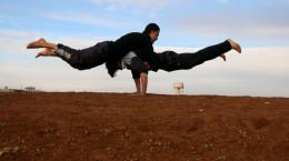 تصاویر ورزش پارکور در سوریه