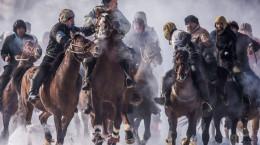 (تصاویر) مسابقات بزکشی در قرقیزستان