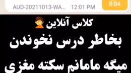 کلیپ طنز کلاس آنلاین شیرازی: مامانم سکته مغزی کرده