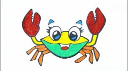 آموزش نقاشی به کودکان | این قسمت نقاشی خرچنگ