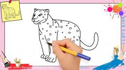 آموزش نقاشی به کودکان | این قسمت نقاشی پلنگ