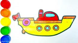 آموزش نقاشی به کودکان | این قسمت نقاشی قایق