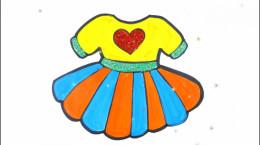آموزش نقاشی به کودکان | این قسمت نقاشی لباس دخترانه