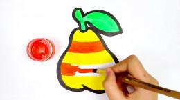 آموزش نقاشی به کودکان | این قسمت نقاشی گلابی