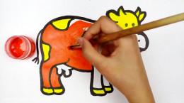 آموزش نقاشی به کودکان | این قسمت نقاشی گاو ماده