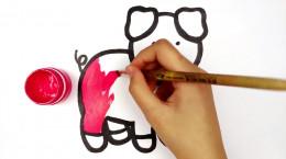 آموزش نقاشی به کودکان | این قسمت نقاشی خوک بازیگوش